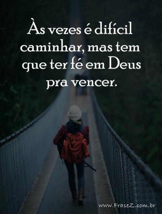 Fé em Deus pra vencer