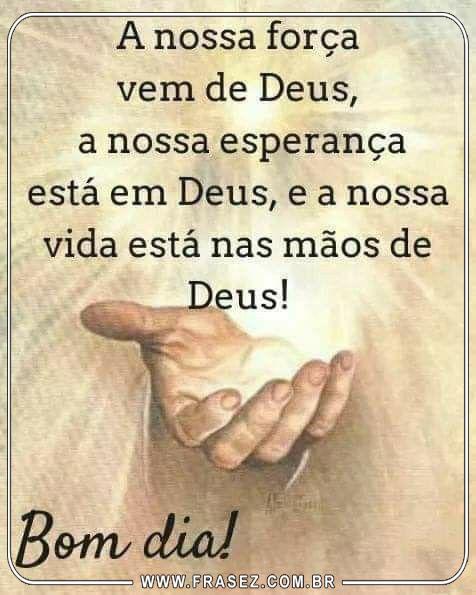 Nossa vida está na mão de Deus!