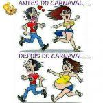 Antes do carnaval depois do carnaval kkk