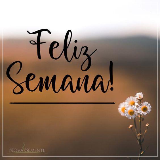 Feliz Semana para você!!!