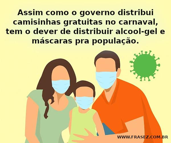 Máscaras pra população