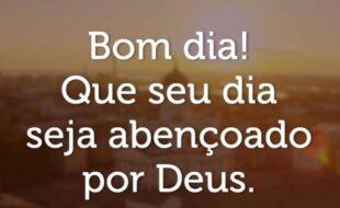 Bom dia! Quem seu dia seja abençoado por Deus.