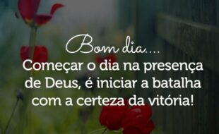 Bom dia na presença de Deus
