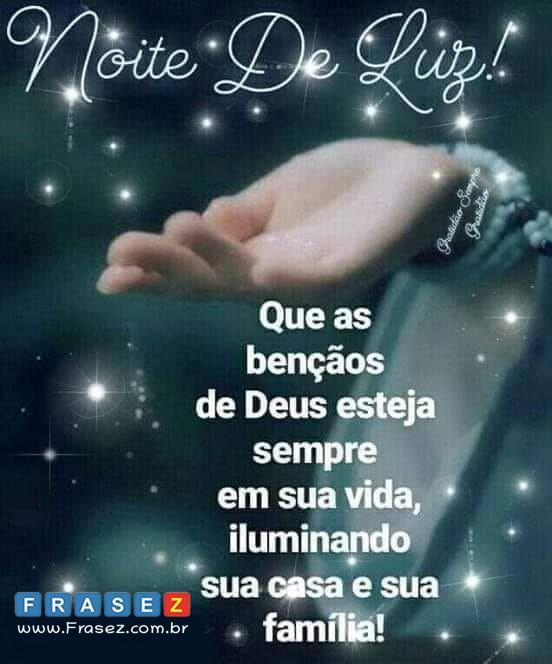 Mensagens de boa noite de Deus