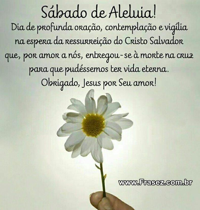 SÁBADO DE ALELUIA!