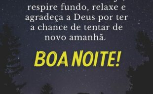 Boa noite de Deus