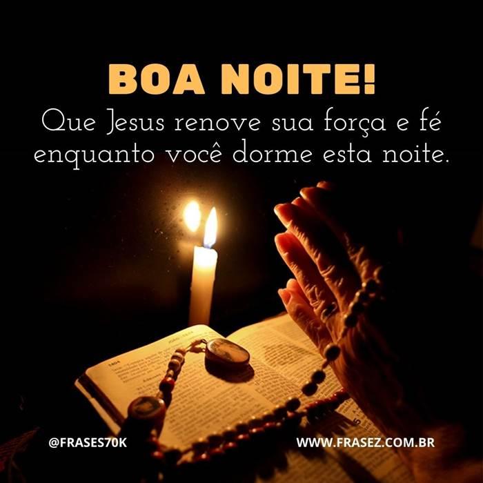 Mensagem de boa noite com Deus